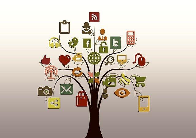 strom se symboly moderní doby