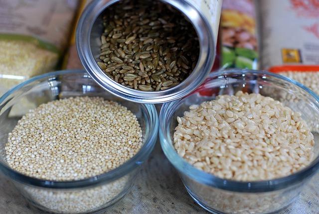 rýže různých druhů