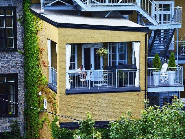 balkon na relaxaci