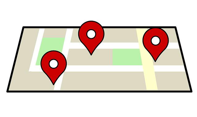 značení na mapě