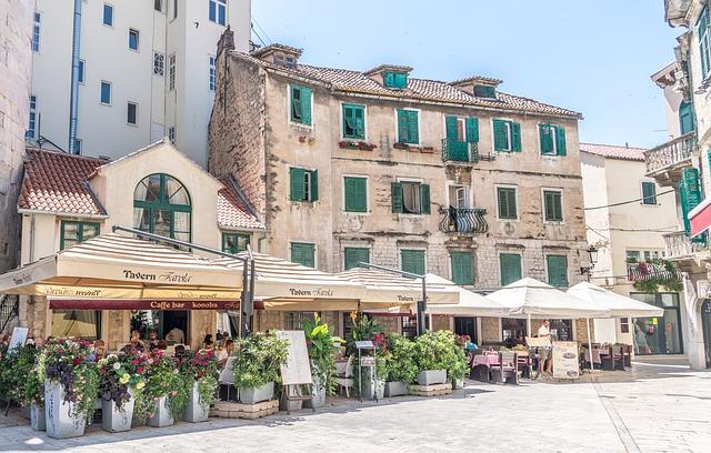 restaurace ve Splitu