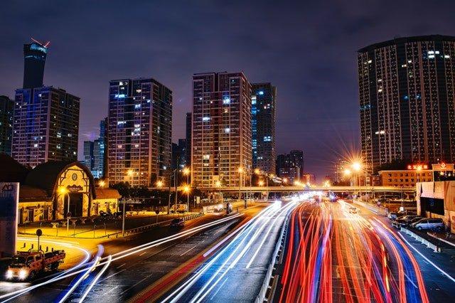 velkoměsto silniční provoz