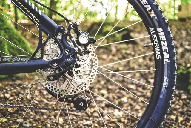 Cyklista na vyhlídce