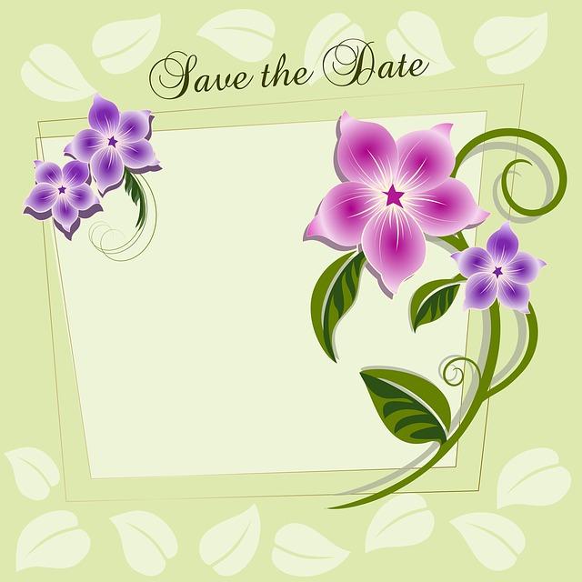 předtištěné oznámení připravené doplnit vše podstatné o svatebním obřadu