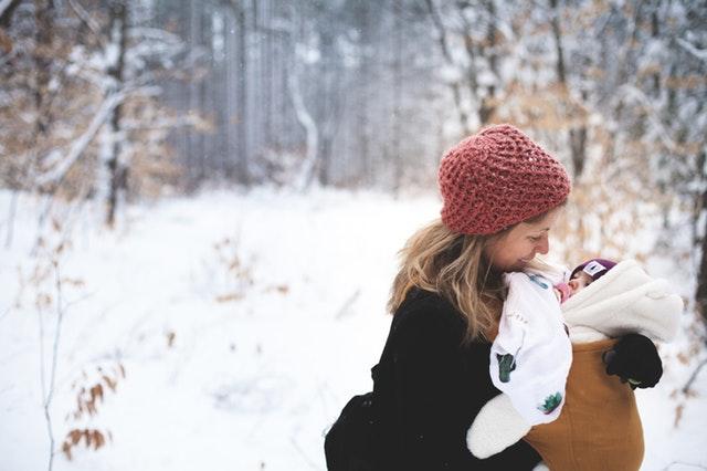 miminko v zimě