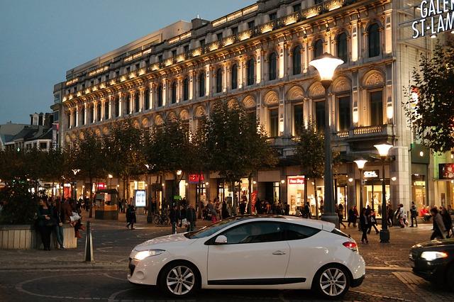 večerní provoz ve městě