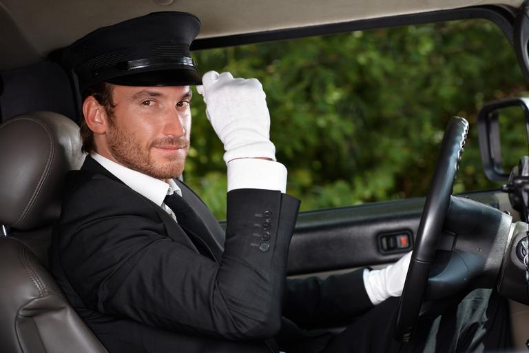 řidič v uniformě