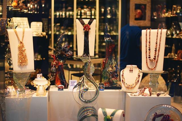 vystavené šperky