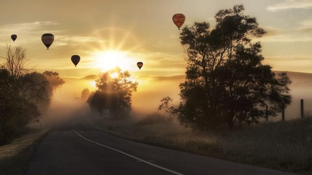 balóny na obloze