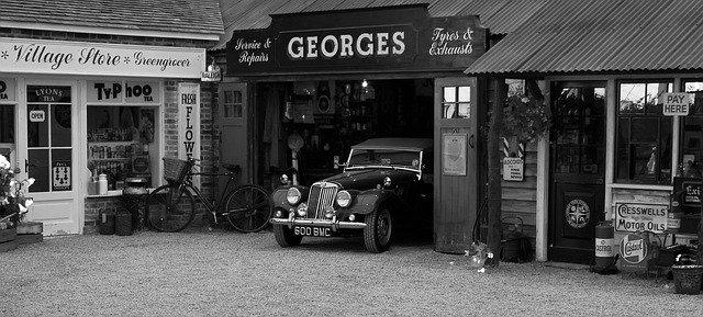 retro garáž