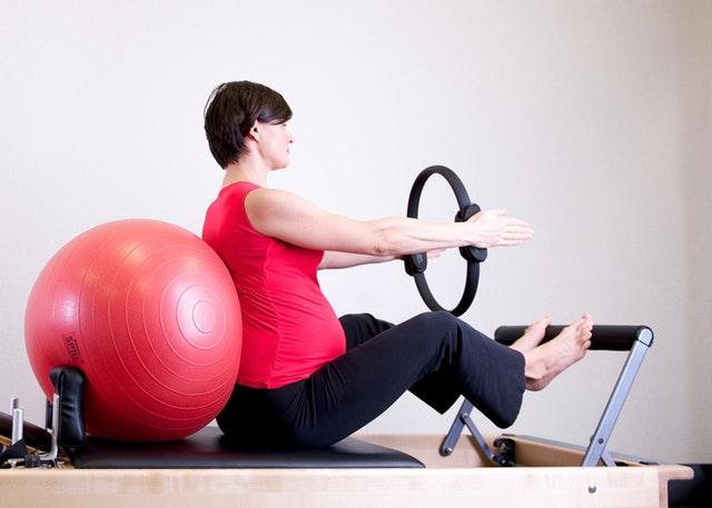 balón, cvičení, hubnutí