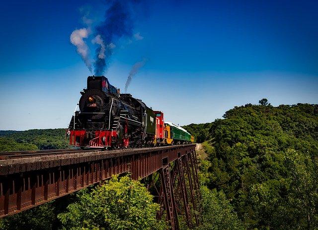 starý parní vlak