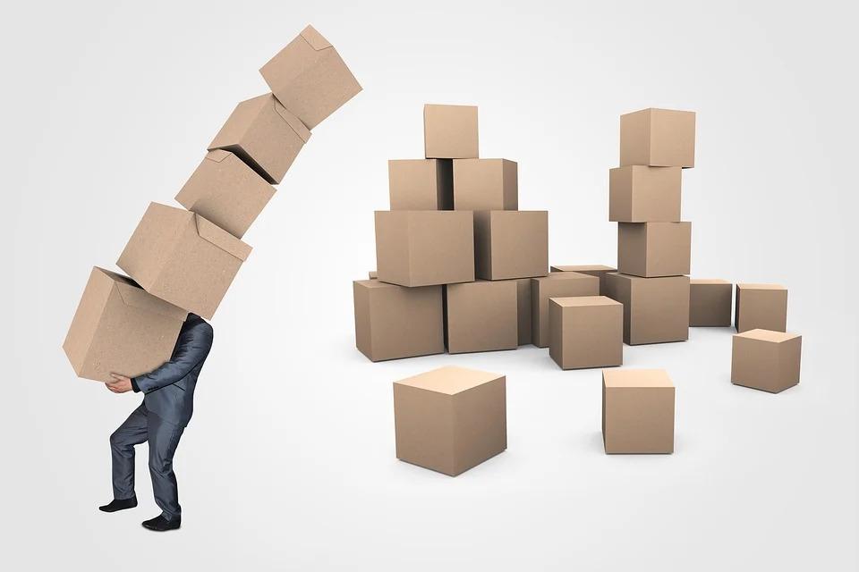 stěhování krabic
